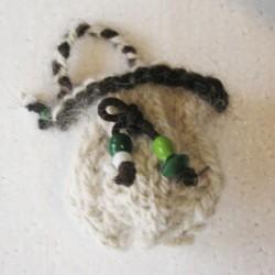 Bourse en laine canine de Bouvier et Berger