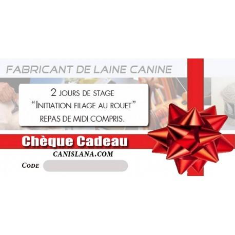 Chèque cadeau 280 € - Formation Initiation filage laine canine 2J