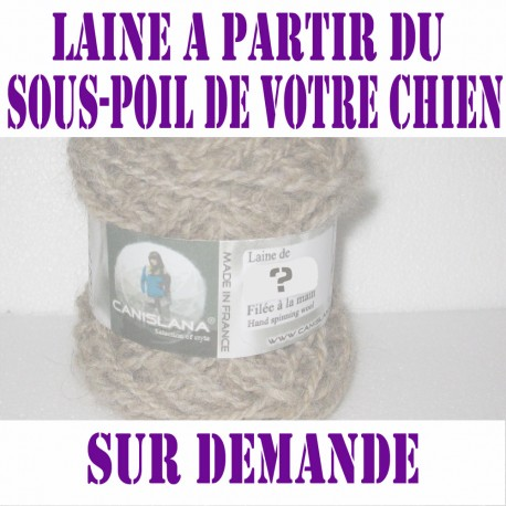 Pelote laine canine