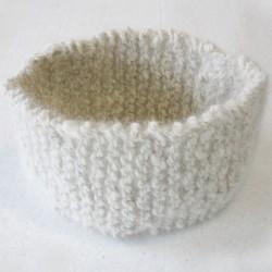Bandeau blanc en laine - Laine canine